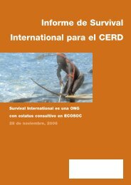 Informe de Survival International para el CERD