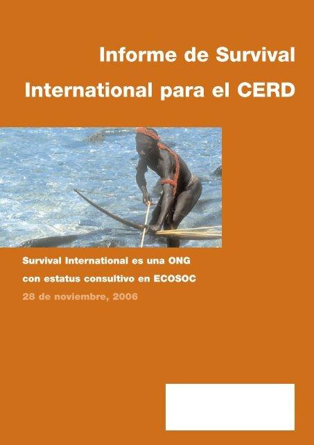 Informe de Survival International para el CERD