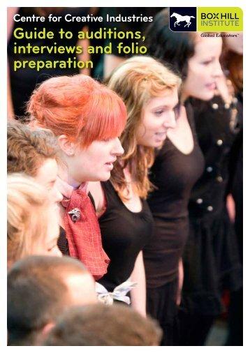 Guide to folio presentation. - Box Hill Institute of TAFE
