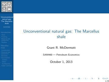 Unconventional natural gas: The Marcellus shale - NHH