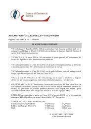 DETERMINAZIONE SEGRETARIALE N° 31 DEL 09/04/2013 ...