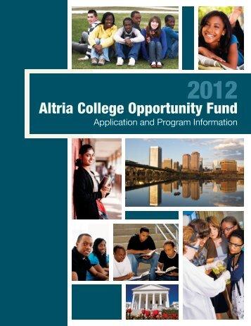 Altria College Opportunity Fund - Richmond Public Schools