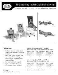 HPU Reclining Shower Chair/Tilt Bath Chair - HPU Rehab