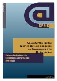 Convocatoria Becas Máster On-line Sociedade da Información e do ...