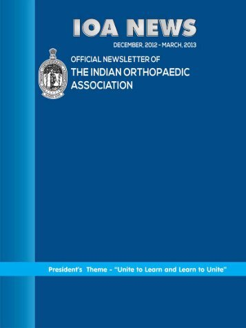 Newsletter March 2013 - Indian Orthopaedic Association