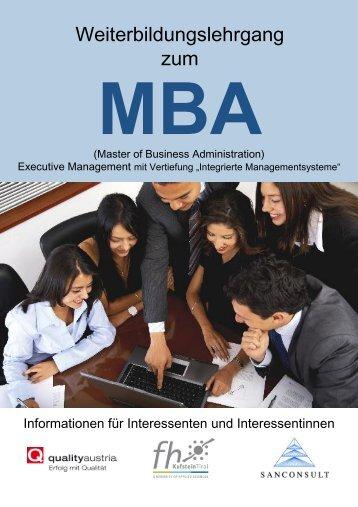 MBA - Quality Austria