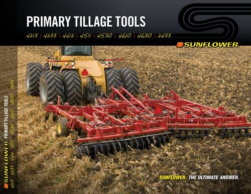 primary tillage tools - Sunflower Manufacturing