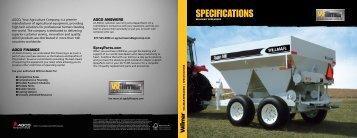 Spreader Spec Sheet - AGCO Application Equipment
