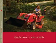 GC1700 Series Spec Sheet - Massey Ferguson