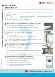 Fragebogen für Arbeitssicherheit und Gesundheitsschutz Tischler/in ...