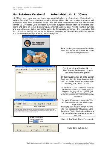 Arbeitsblatt Nr. 2: WORD – Schrift formatieren ... - goodschool.de