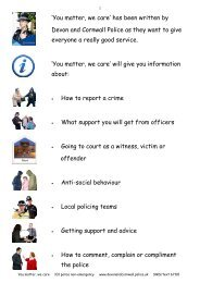 Easy read You Matter We Care booklet - Devon & Cornwall Police