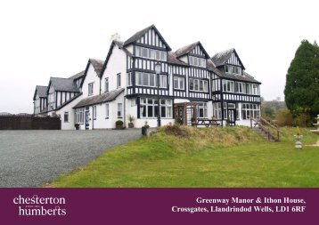 Greenway Manor & Ithon House, Crossgates, Llandrindod ... - Farming