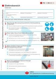 Fragebogen für Arbeitssicherheit und Gesundheitsschutz ...
