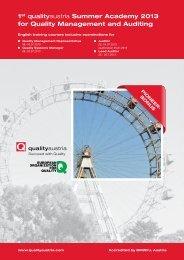 1st qualityaustria Summer Academy 2013 - European Organization ...