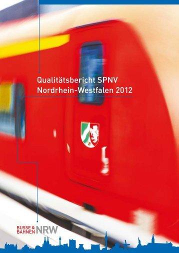 Qualitätsbericht SPNV Nordrhein-Westfalen 2012 - NWL