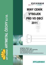 Ceník běžně používaných výbojek - ArtMetal Čechy