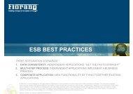 ESB BEST PRACTICES - Fiorano