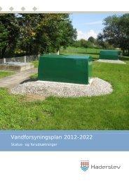 Vandforsyningsplan 2012-2022, status - Haderslev Kommune