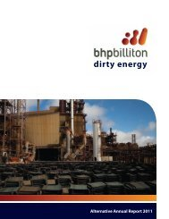 dirty energy - BHP Billiton Watch