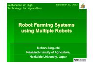 Robot Farming Systems using Multiple Robots - IAgrE