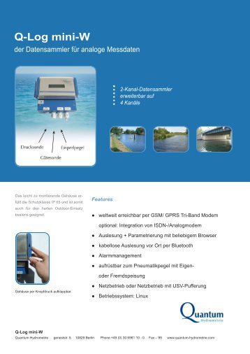 Q-Log mini-W - Quantum Hydrometrie GmbH