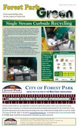 Single Stream Curbside Recycling - City of Forest Park