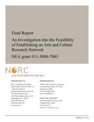 Arts and Culture Research Network - Cultural Policy Center