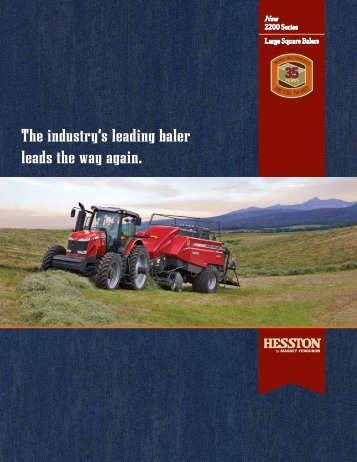 2200 Series Large Square Baler Spec Sheet - Hesston.com