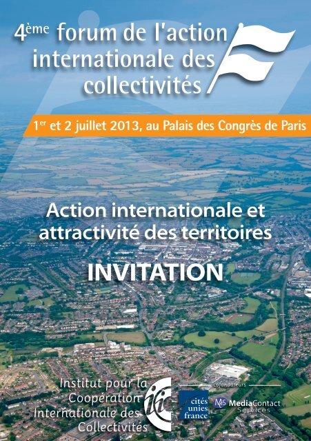 INVITATION - Cités Unies France