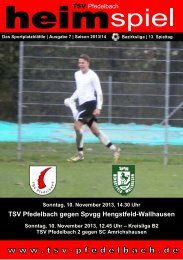 7. Heft gegen Spvgg Hengstfeld-Wallhausen / SC ... - TSV Pfedelbach