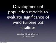 Winifred F. Frick & Taal Levi UC Santa Cruz - Bats and Wind Energy ...