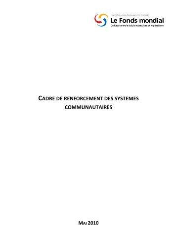 cadre de renforcement des systèmes communautaires - Global Fund