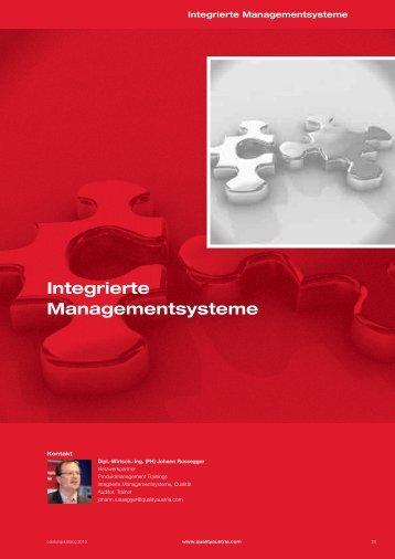 Integrierte Managementsysteme - Quality Austria
