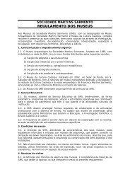 regulamento dos museus - Casa de Sarmento - Universidade do ...
