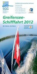 Greifensee- Schifffahrt 2012
