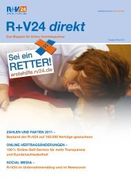 Magazin R+V24 direkt - Ausgabe März 2012 - Zur R+V24