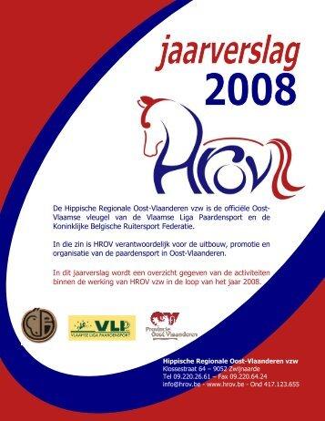 Jaarverslag werking 2008 - HROV