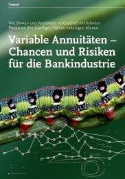 Variable Annuitäten – Chancen und Risiken für ... - solutionproviders