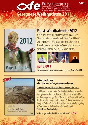Gesegnete Weihnachten 2011 - fe-Medienverlags GmbH