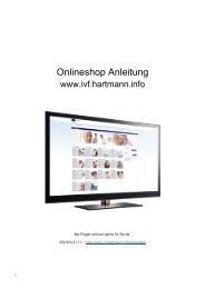 Onlineshop Anleitung - IVF Hartmann AG