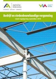 Bedrijf en stedenbouwkundige vergunning - Agentschap Ondernemen