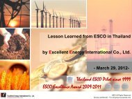 Lesson Learned from ESCO in Thailand - IESR