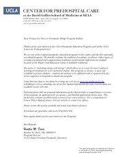 Program Application - UCLA Center for Prehospital Care