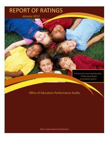Report of Ratings Book 2012 - OEPA