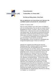 Presseinformation Frankfurt/Main, 18. Februar 2005 ... - Standard Life