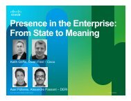 Presence in the Enterprise: From State to Meaning - SemTech 2011