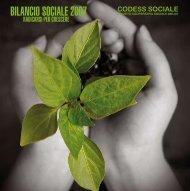 BILANCIO SOCIALE 2007 - Codess Sociale