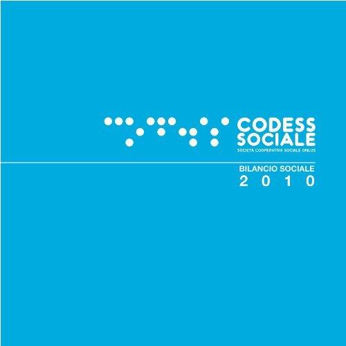 Bilancio sociale 2010 - Codess Sociale
