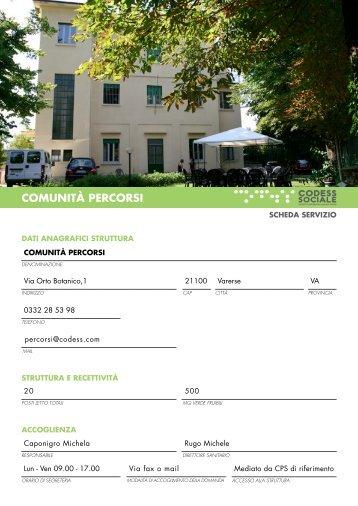 COMUNITÀ PERCORSI - Codess Sociale